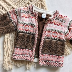 Baby Gap boho zip up sweater